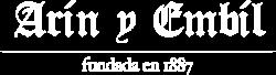 Logotipo Arin y Embil - negativo