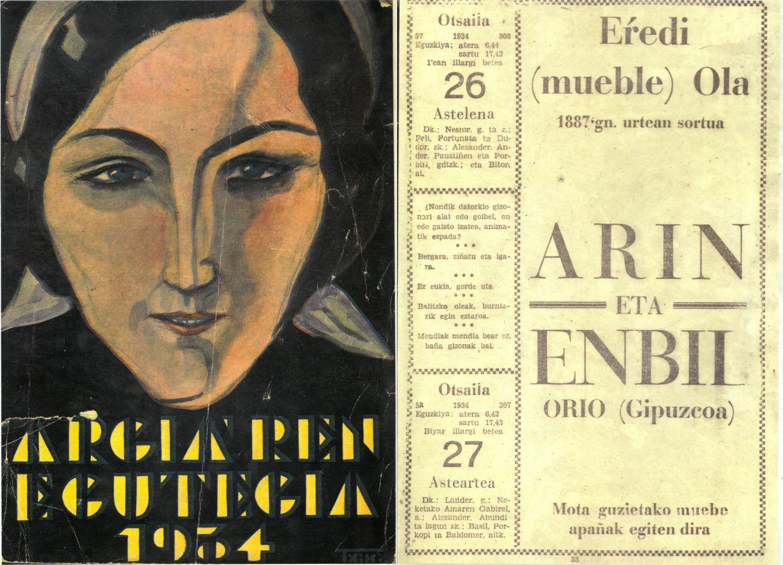 publicidad antigua Arin y Embil tienda de muebles gipuzkoa